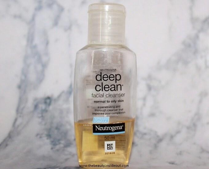 Neutrogena Deep Clean Facial Cleanser Review