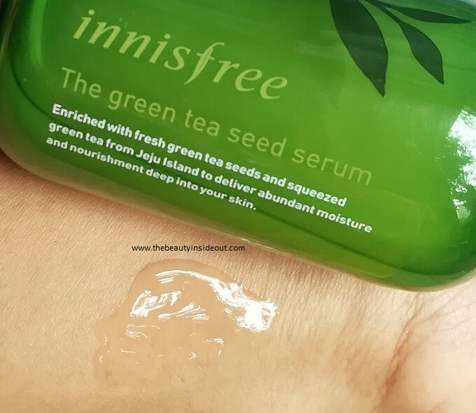 Innisfree Green Tea Seed Serum Swatch