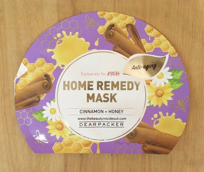 Dear Packer Home Remedy Sheet Mask - Cinnamon & Honey