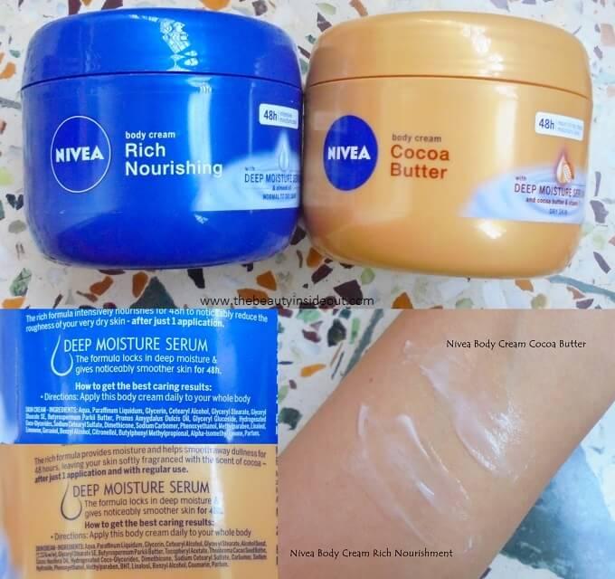 Nivea Body Creams
