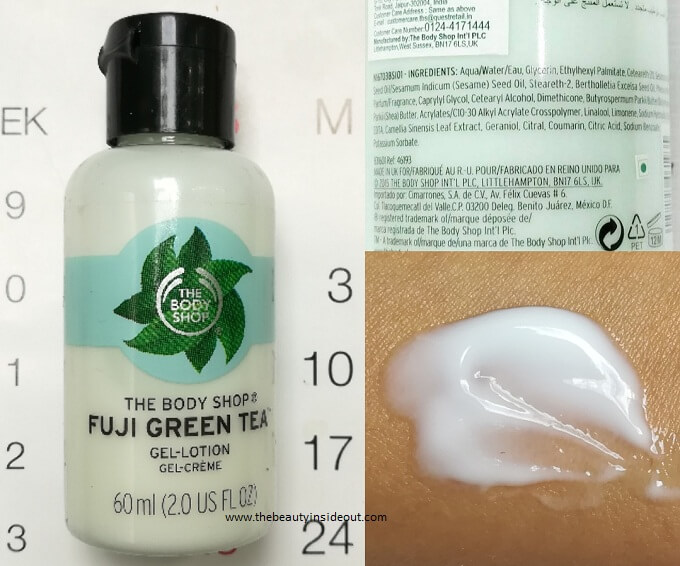 The Body Shop Fuji Green Tea Replenishing Gel Lotion