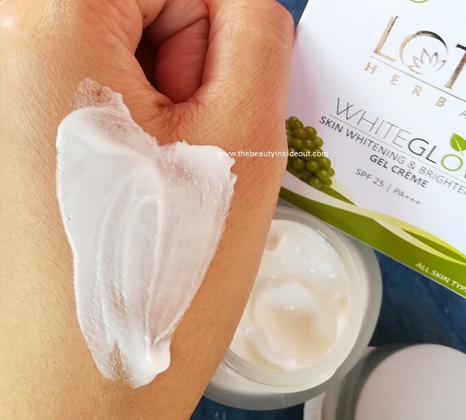 Lotus White Glow Gel Cream Texture