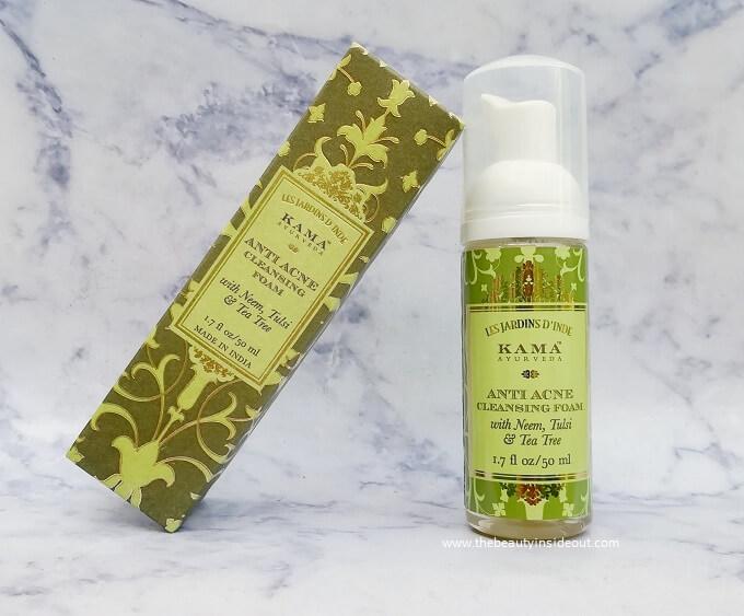 Kama Ayurveda Anti Acne Cleansing Foam Review