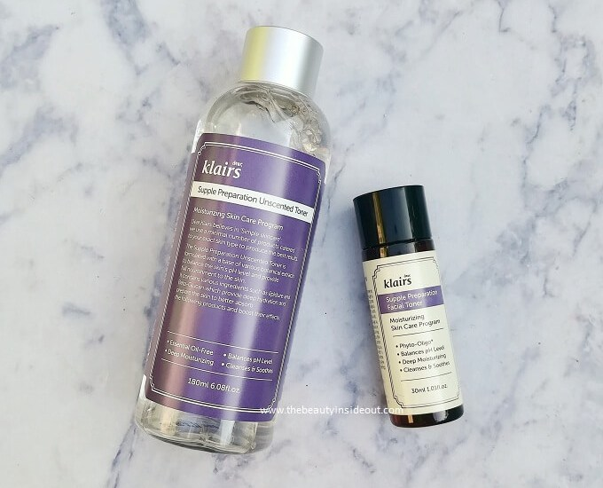 Klairs Supple Preparation Facial Toner Unscented vs Scented Review