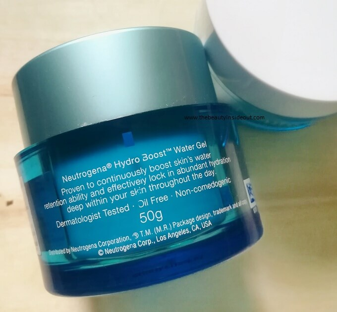 Neutrogena Hydro Boost Water Gel Claims