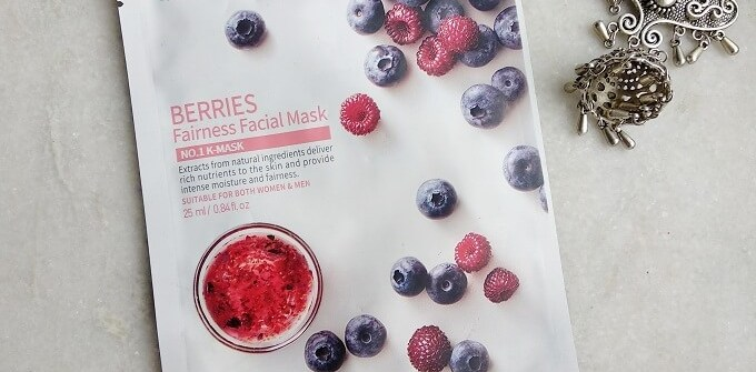 Mirabelle Korea Berries Fairness Facial Mask Review