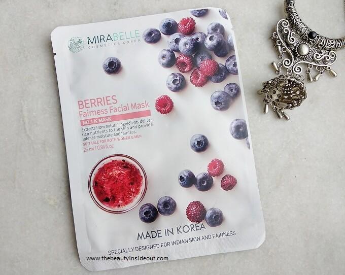 Mirabelle Korea Berries Fairness Facial Mask Review