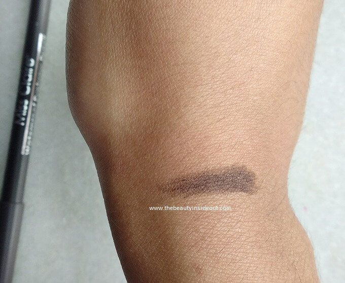 Miss Claire Waterproof Eyebrow Pencil Dark Brown Swatch