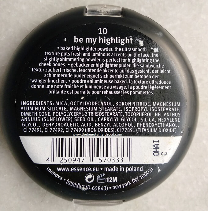 Essence Pure Nude Highlighter Ingredients