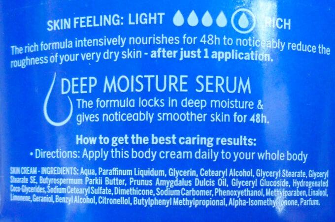 Nivea Body Cream Rich Nourishing Ingredients