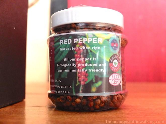 Pot de poivre rouge de Kampot