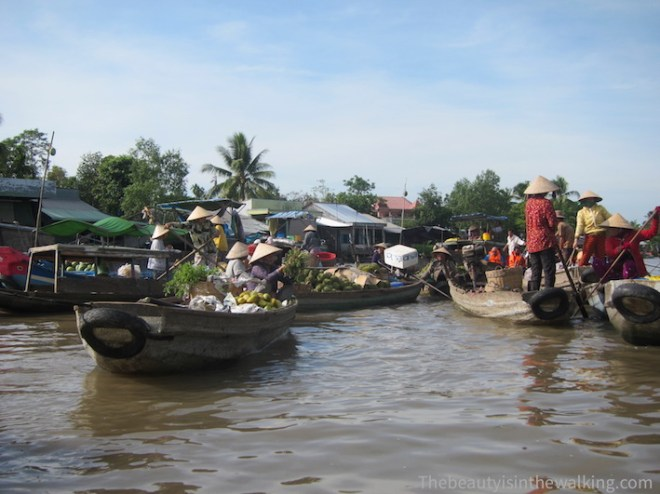 Phong Dien floating markets, Can Tho - boats
