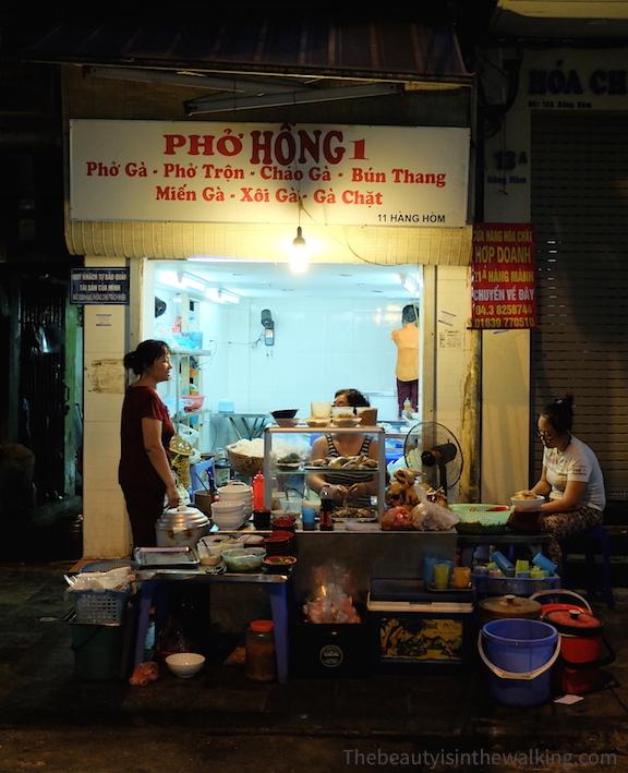 Restaurant sur Hàng Hòm, Hanoï
