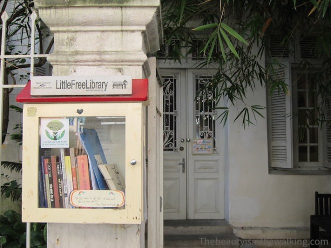 Free library, Manzi Cafe, Hanoi
