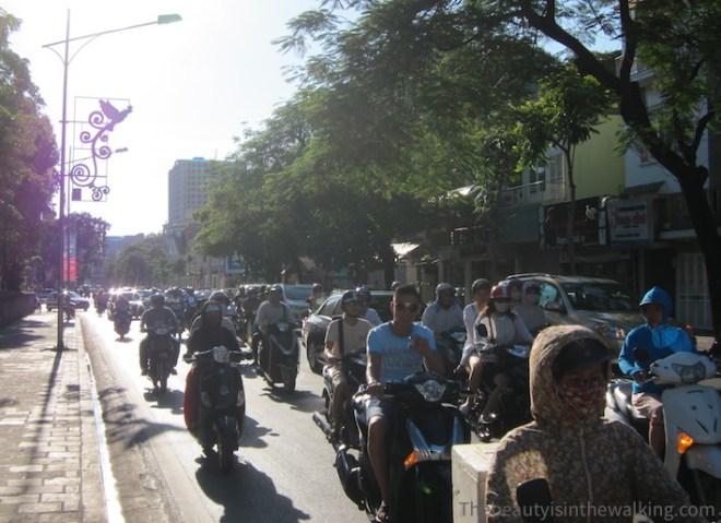 Trafic à Hanoi