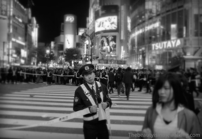 Policeman in Shibuya - Halloween 2015
