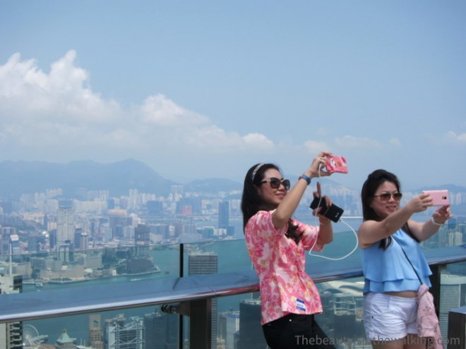 Selfie on top of Victoria Peak