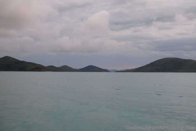 Calm sea in the Whitsunday Islands