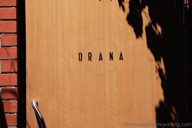 Entrance of the Orana restaurant