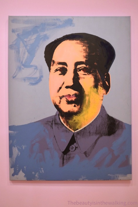 Pop art portrait of Mao, Andy Warhol - NGV, Melbourne