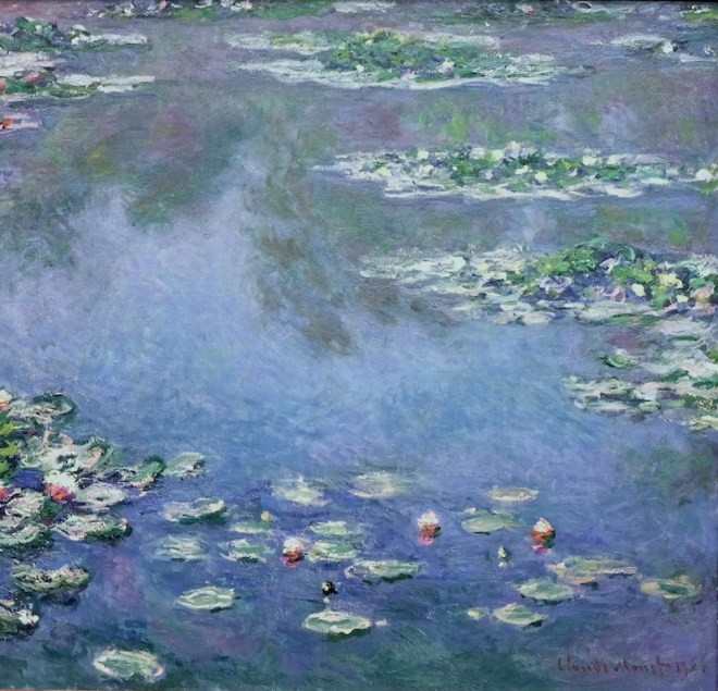 Water lilies, 1906, The Art Institute of Chicago.