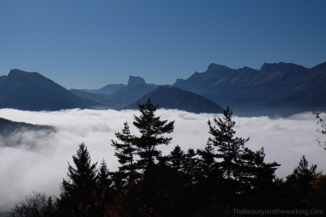 Sea of clouds - Arzelier Pass, Vercors, French Alps