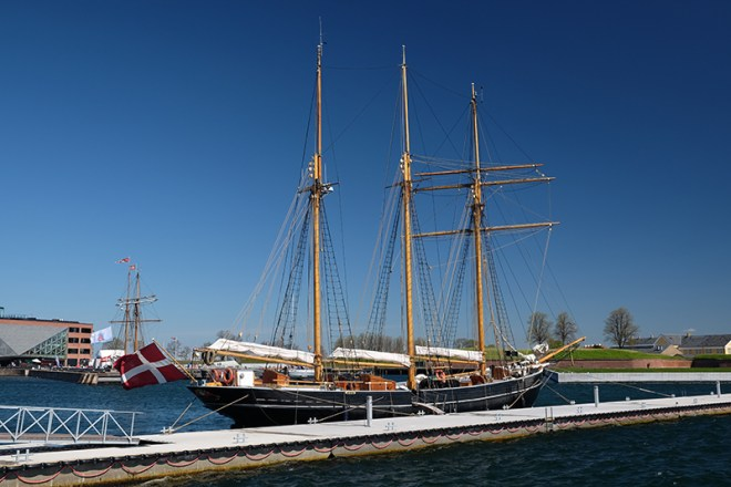 Bateau à voile, port d'Helsingør