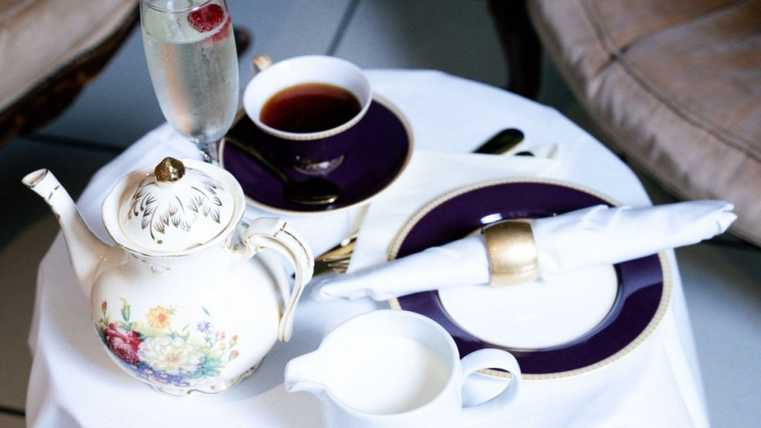 Spa Vintage Tea Menu - Private Spa