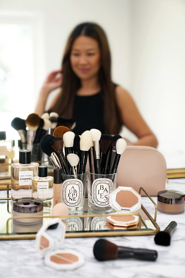 Favorite Makeup Brushes Face Sabrina 1440x2159 - Best Decorative Trays for Your Vanity + Beauty Products