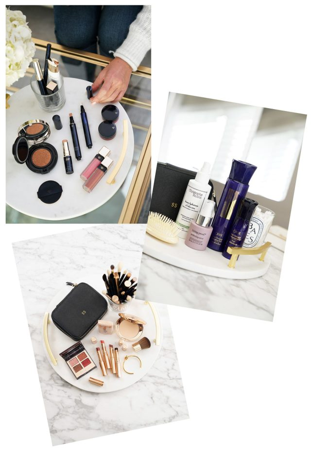 Round Marble Cheese Board BeautyVanity 1440x2080 - Best Decorative Trays for Your Vanity + Beauty Products