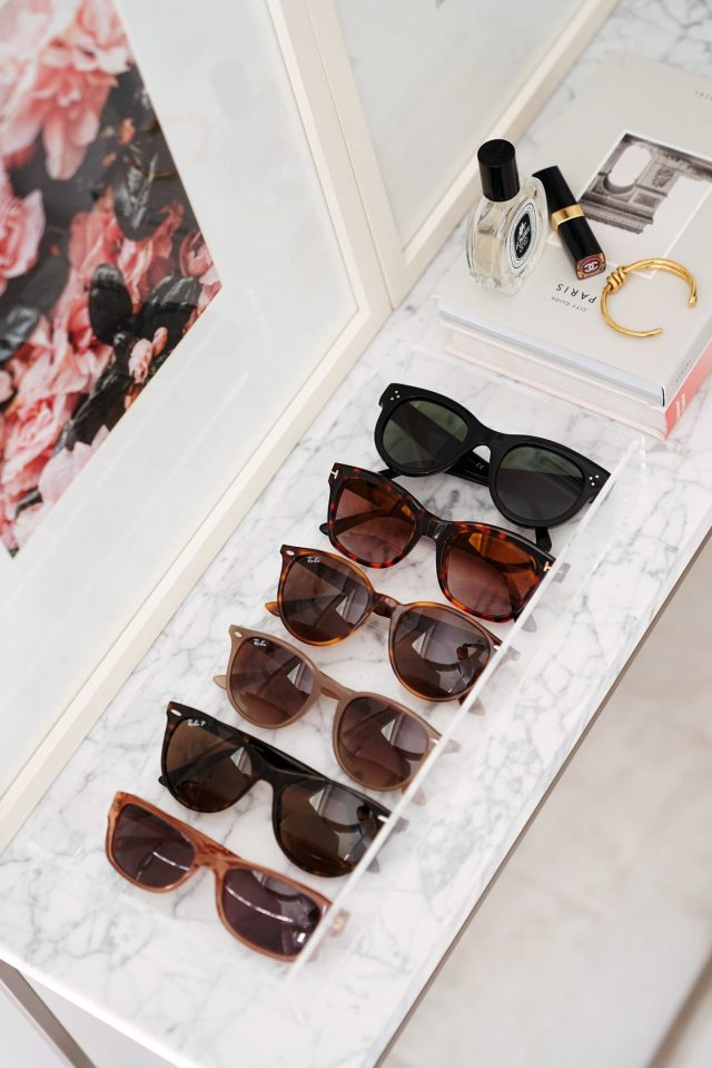 Sunglass Storage Acrylic Tray CB2 1440x2159 - Best Decorative Trays for Your Vanity + Beauty Products