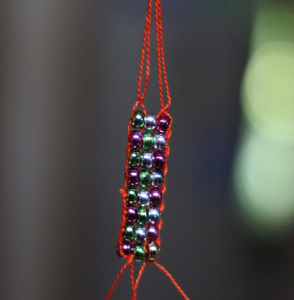Native American inspired beadwork for a Native Studies Unit of Homeschooling