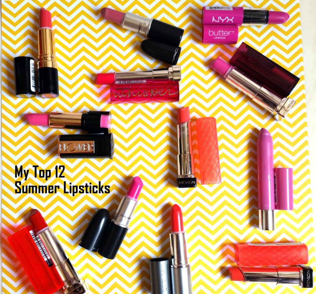 My Top 12 Summer Lipsticks