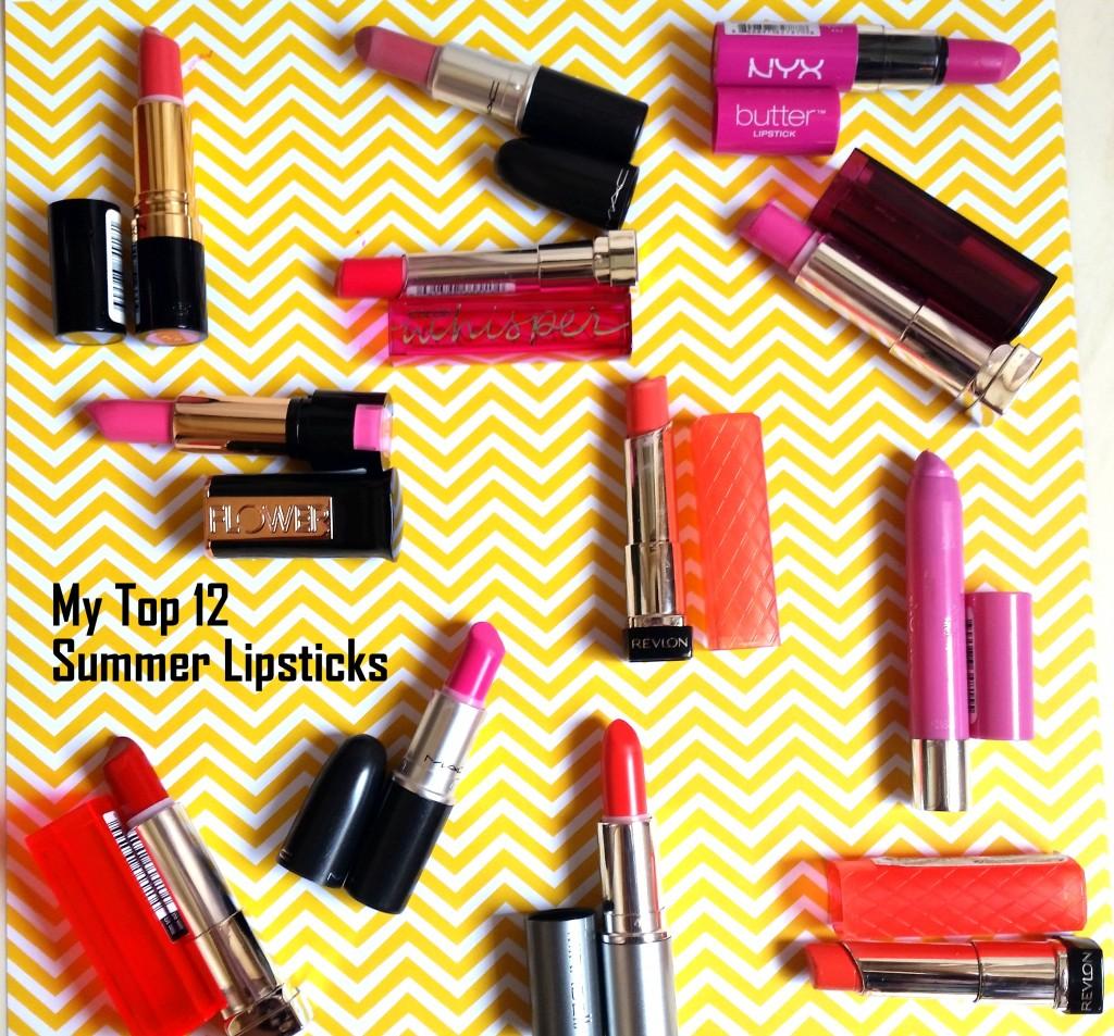 My Top 12 Summer Lipsticks