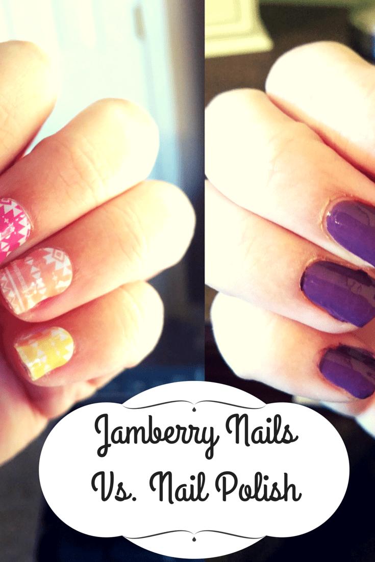 Jamberry Nails Vs. Nail Polish - The Beauty Section