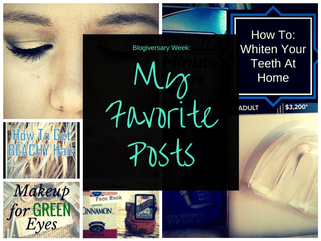 Blogiversary Week: My Favorite Posts