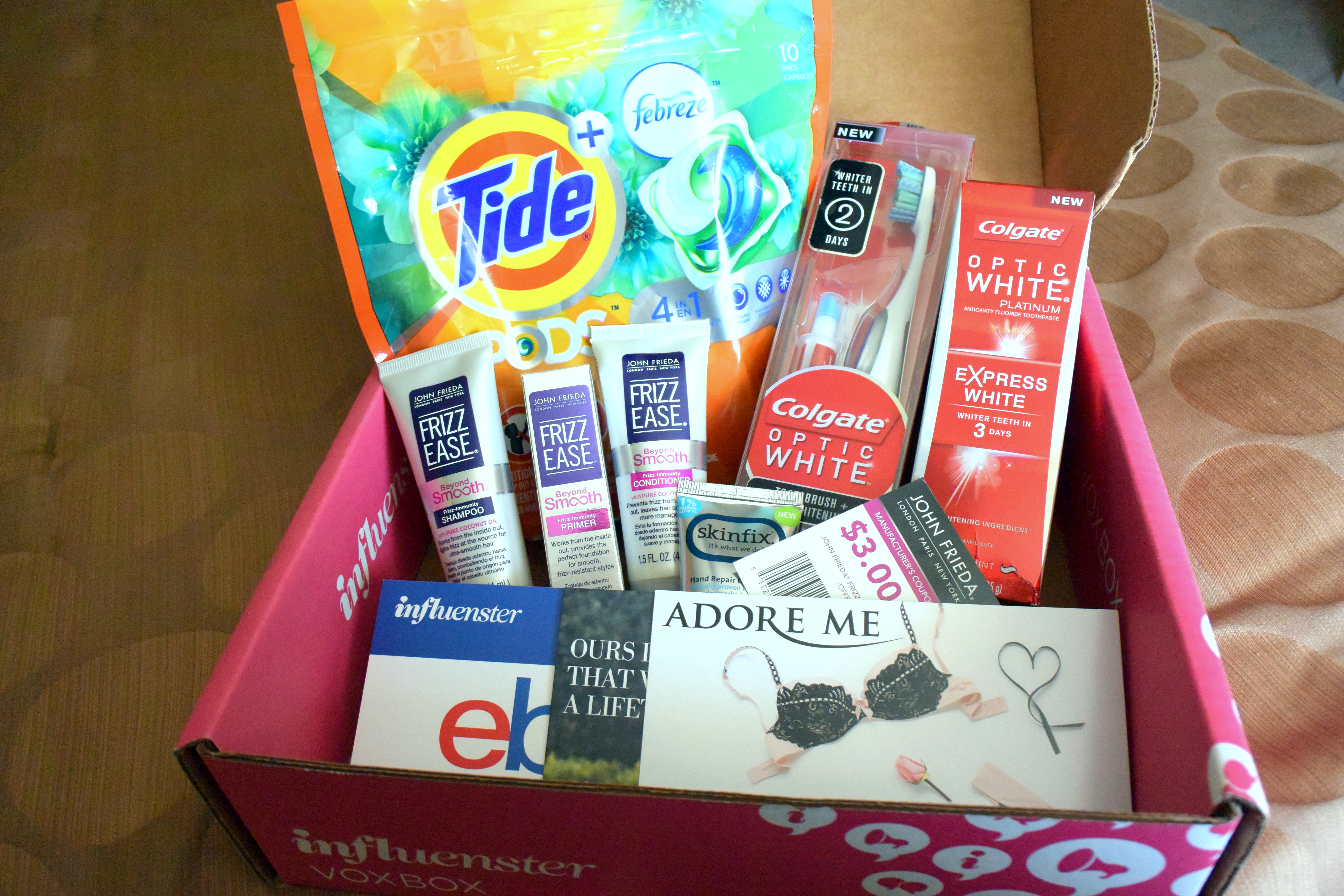 Influenster is a community of trendsetters, social media hotshots, and educated consumers who live to give opinions of products and experiences. We invite our most active and social media savvy members to participate in exclusive rewards campaigns, such as VoxBox, Twitter Chats, and Fun contest