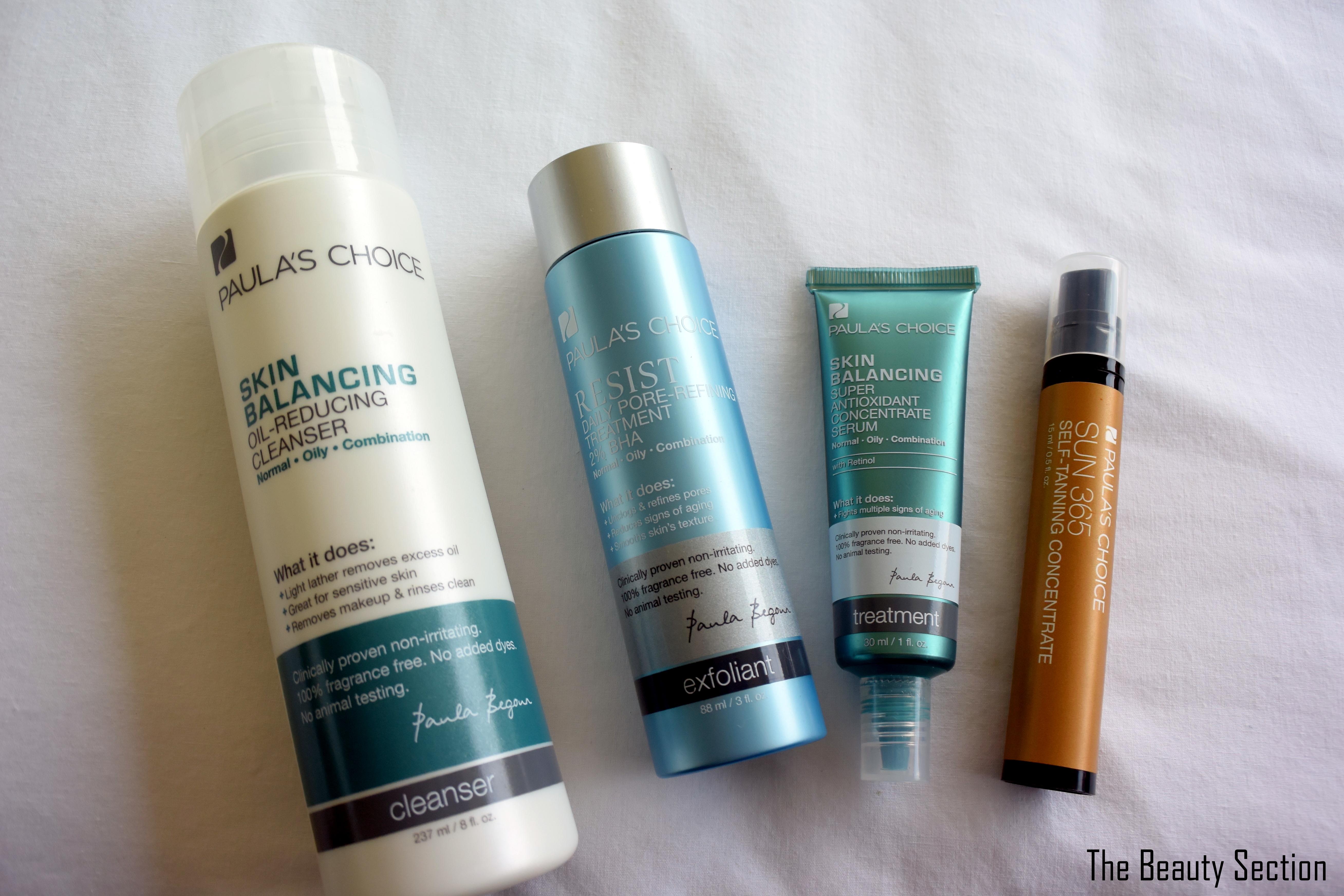 Paula's Choice Skincare for Oily Skin + Self Tanner
