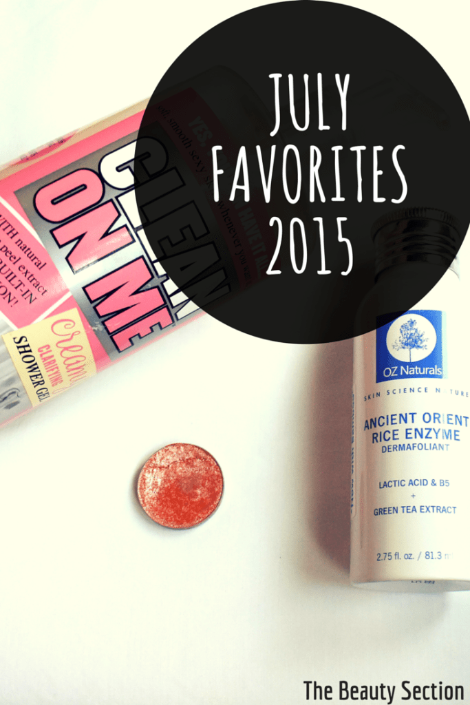 July Beauty Favorites 2015. Body, Skincare, Makeup