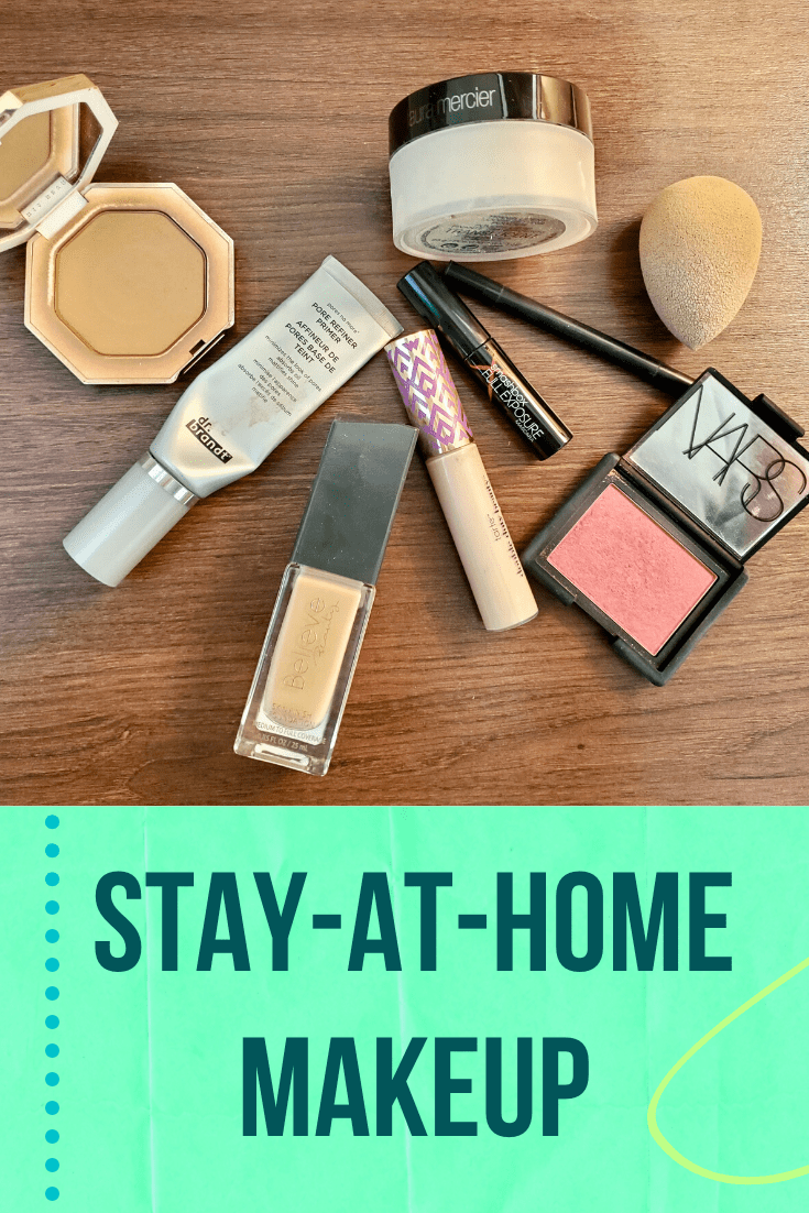 Stay-At-Home Makeup when you are working at home.