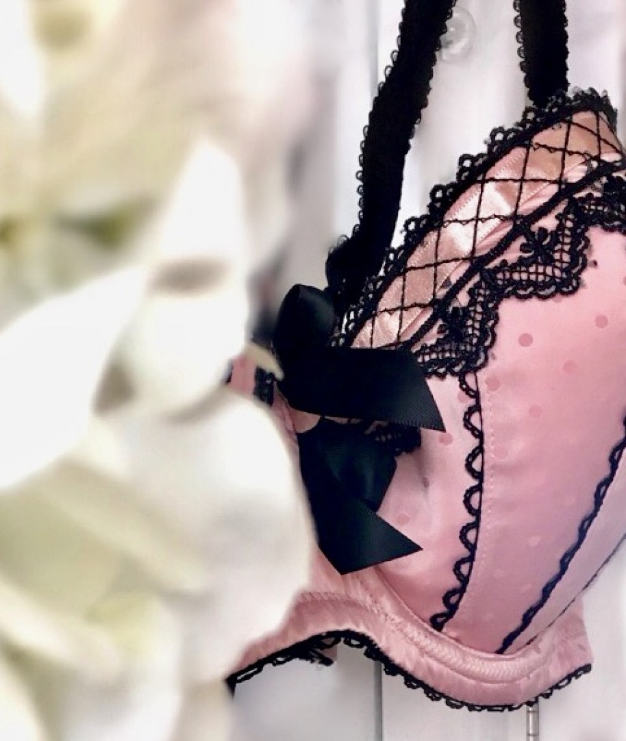 Decorative bra. Why ditching g your bra is good for you.