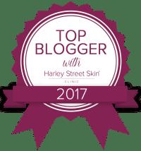Top Blogger award. Harley Street Skincare