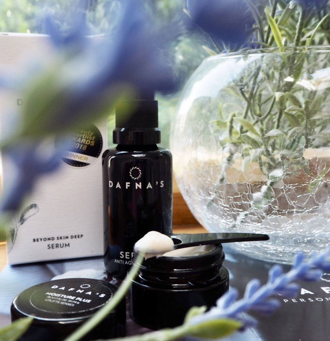 Dafna's personal skincare. serum and glow