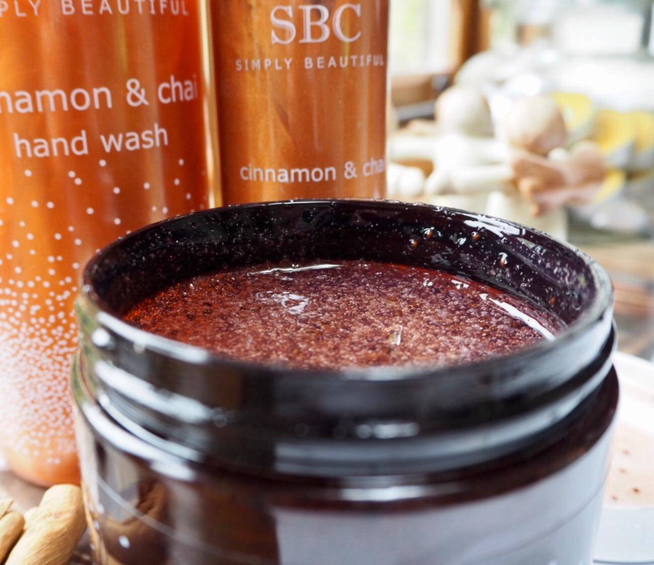 SBC new seasonal bath and body Cinnamon and chai