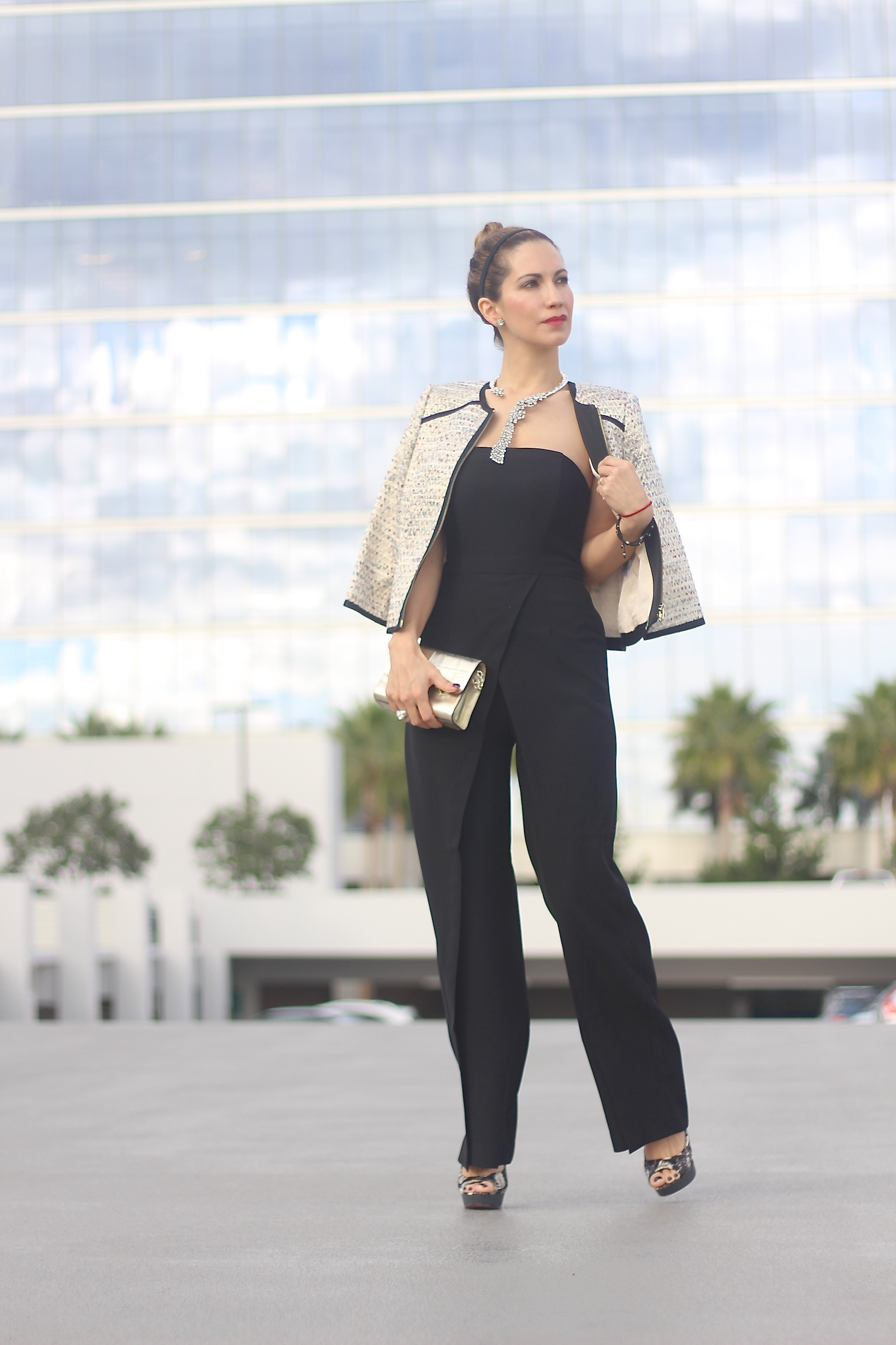 CHRISTMAS IN STRAPLESS // BLACK JUMPSUIT