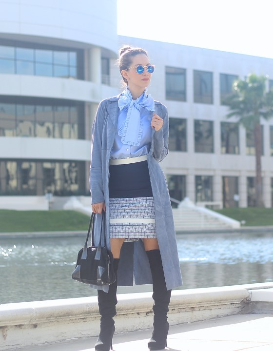 WINTER BLUES // SUEDE TRENCH