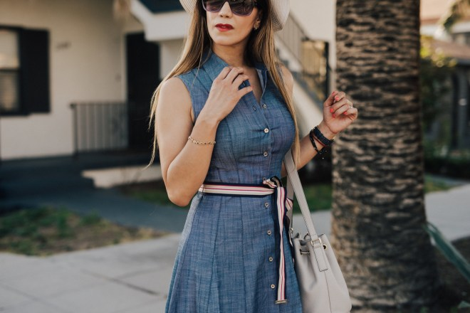 flattering shirt dress