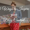 ways to inspire your blog
