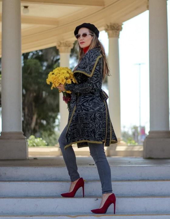 Welcoming Fall // Knit Sweater Coat & Wool Beret