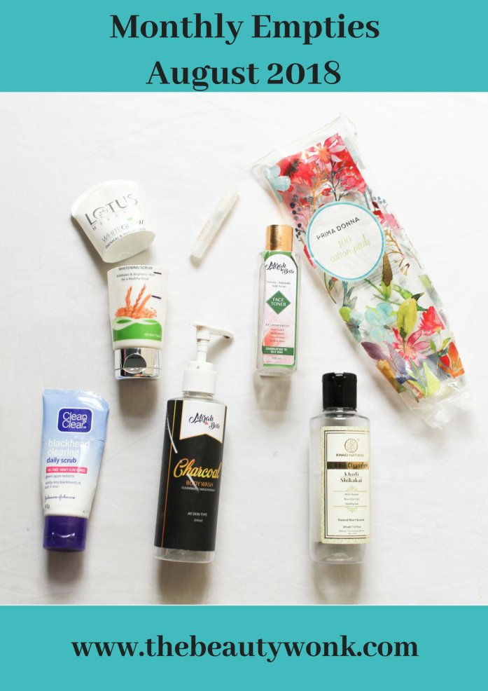 Monthly Empties August Review